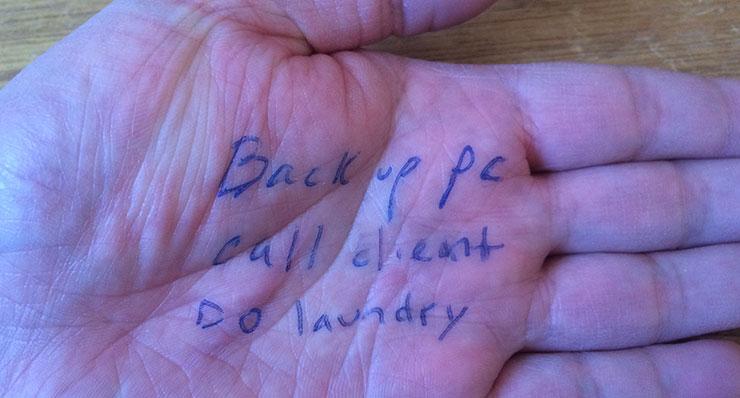 List of tasks on hand